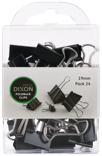 Dixon Foldback Clips 19mm Pack 24