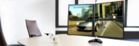 "Loctek: DLB114 Four Monitor Desk Mount (10""-30"") image"