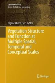 Vegetation Structure and Function at Multiple Spatial, Temporal and Conceptual Scales image
