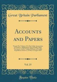 Accounts and Papers, Vol. 25 by Great Britain Parliament image