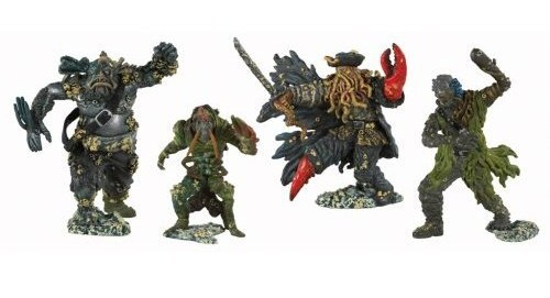 Pirates of the Caribbean - Pirate Captain and Crew Figures (4 Pack)