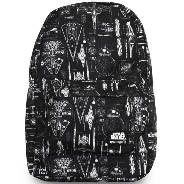 Loungefly Star Wars Ship Blueprint Backpack