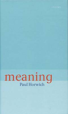 Meaning by Paul Horwich image