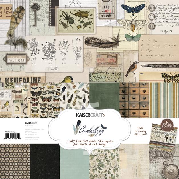 Kaisercraft: Paper Pack with Bonus Sticker Sheet - Anthology