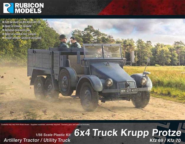Rubicon 1/56 Krupp Protze Kfz 69/70 6x4 Truck
