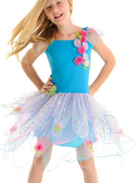 Fairy Girls - Crystal Fairy Dress in Turquoise (Small, age 1-4)