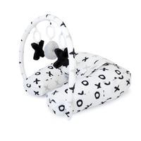 Amani Bebe: Nursing Pillow with Toybar - Tic Tac Toe
