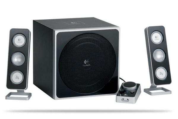 Logitech 2.1 Z4 Speaker System - Black