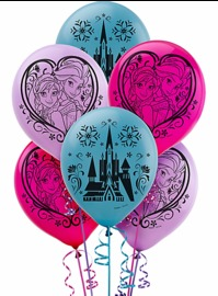 Frozen Latex Balloons (Pack of 6)