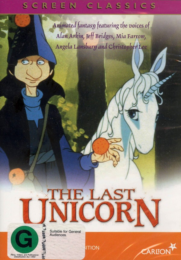 The Last Unicorn on DVD image