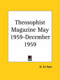 Theosophist Magazine (May 1959-December 1959)