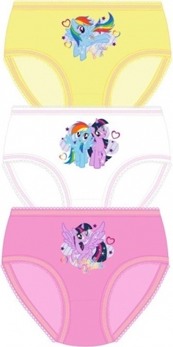 My Little Pony: Girls Hipster Briefs 3pp - 3-4