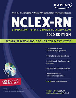 Kaplan NCLEX-RN Exam: Strategies for the Registered Nursing Licensing Exam: 2010 by Barbara J. Irwin, B.S.N., R.N. image