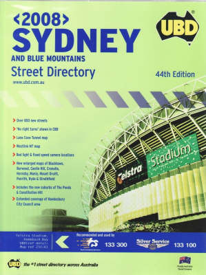 UBD Sydney and Blue Mountains 2008 Street Directory
