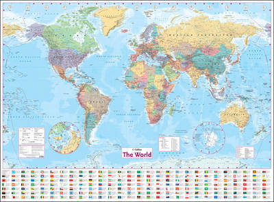 Collins World Wall Paper Map image