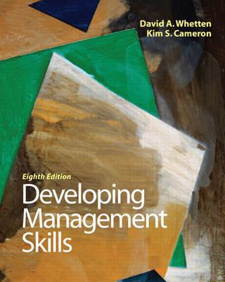 Developing Management Skills by David A. Whetten