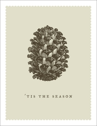 Breathless Tis The Season Pine Cone Christmas Card