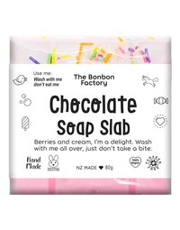 The Bonbon Factory - Berries & Cream Chocolate Soap Slab (80g)
