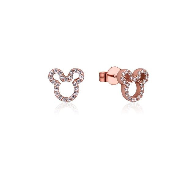 Couture Kingdom: Mickey Mouse Outline Studs - Rose Gold (Cubic Zirconia)
