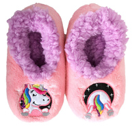 Slumbies: Unicorn Patch Pal - Toddler Slippers (Large)