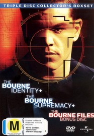 The Bourne Identity / The Bourne Supremacy / The Bourne Files - Triple Disc Collector's Boxset (3 Disc Set) on DVD image