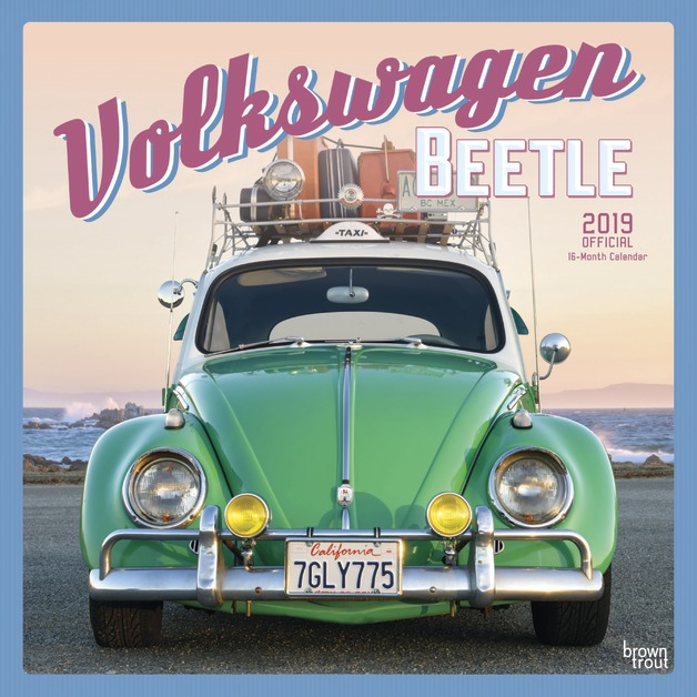 Volkswagen Beetle 2019 Square Wall Calendar by Inc Browntrout Publishers