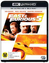 Fast & The Furious 5 on UHD Blu-ray