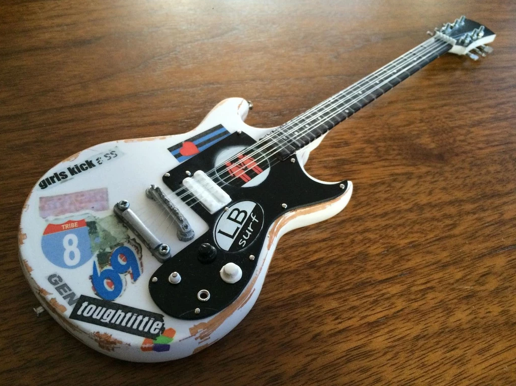 "Axe Heaven: Miniature Replica - ""Girls Kick Ass"" Tribute Guitar (Joan Jett & The Blackhearts) image"