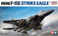Tamiya McDonnell Douglas Boeing F-15E Strike Eagle with Bunker Buster 1/32 Model Kit