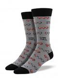 Mens Gamer Life Crew Socks - Grey
