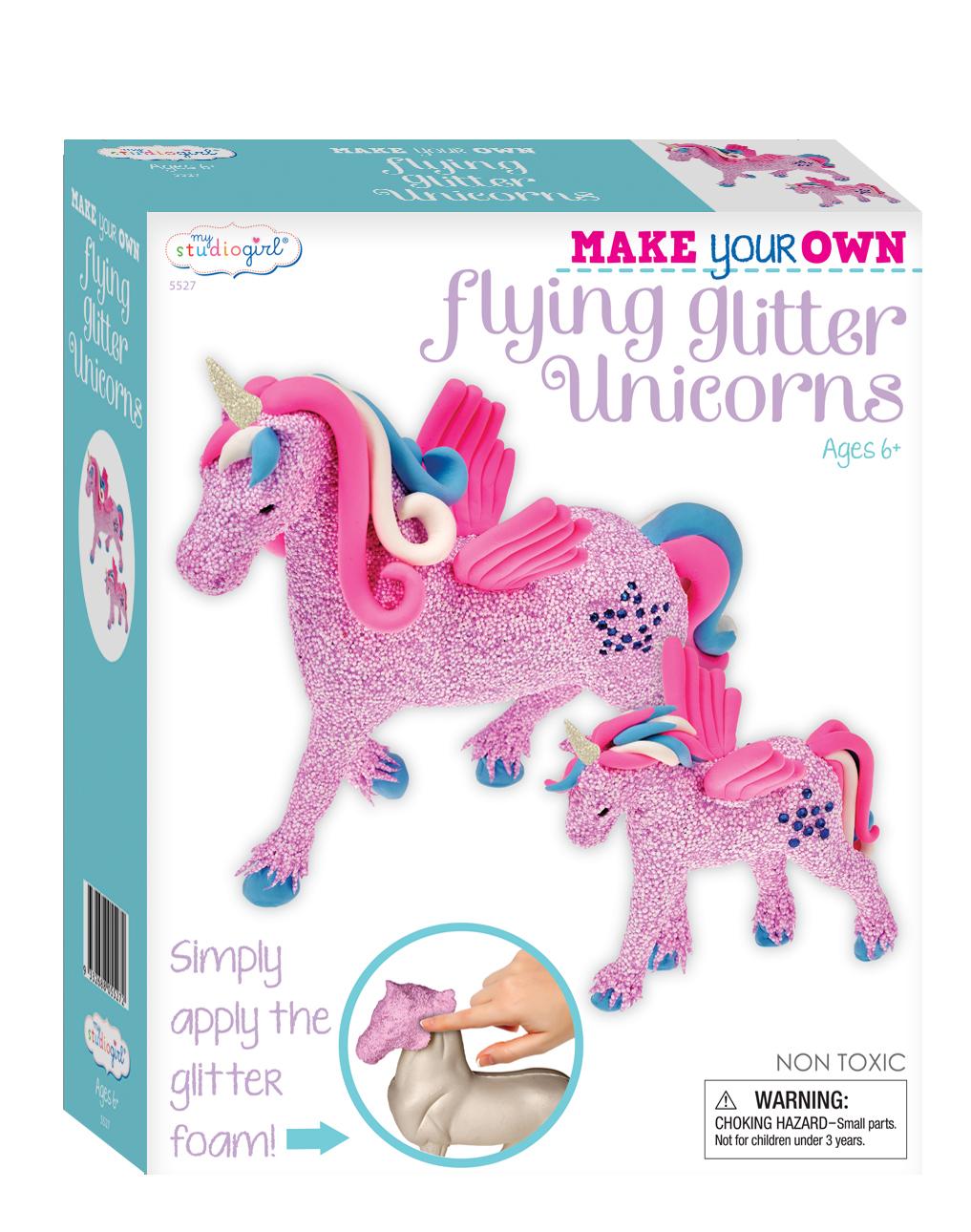 My Studio Girl: Make Your Own Flying Glitter Unicorns Kit image