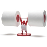 Monkey Business: Mr T Roll Holder (Red) image