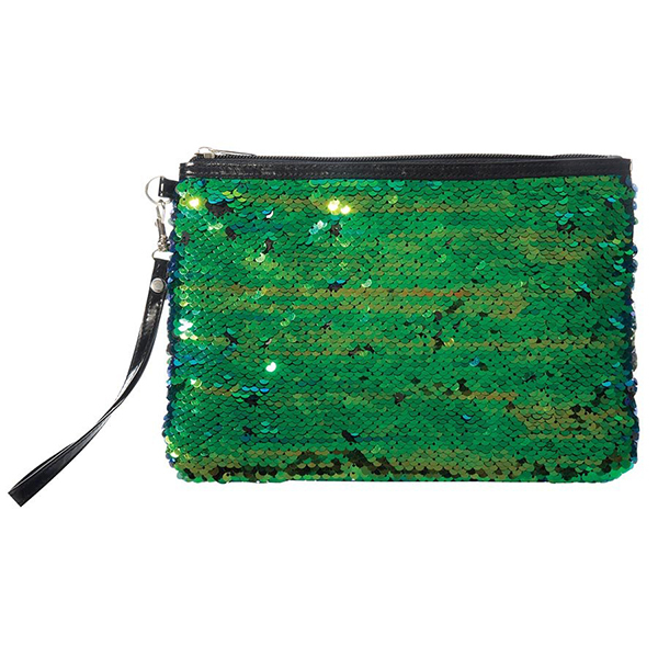 Reversible Sequin Accessory Pouch - Mermaid
