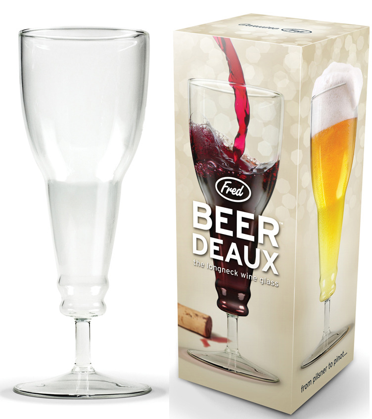 Beer-deaux Beer Bottle Wine Glass - by Fred image