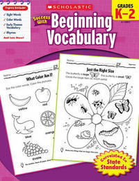 Scholastic Success with Beginning Vocabulary, Grade K-2 by Danette Randolph image