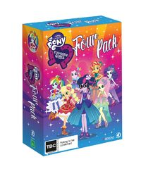 My Little Pony Equestria Girls Four Pack on DVD