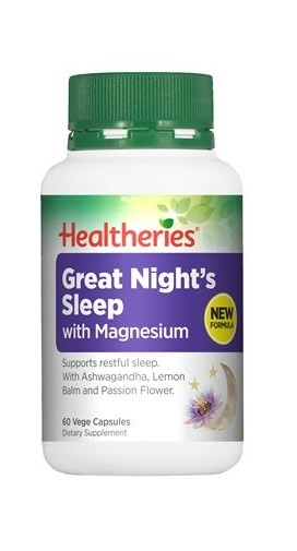 Healtheries Great Nights Sleep with Magnesium (60 Caps)