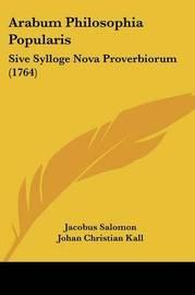 Arabum Philosophia Popularis: Sive Sylloge Nova Proverbiorum (1764) by Frederik Rostgaard image