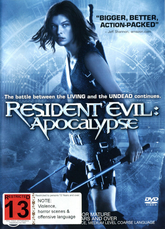 Resident Evil 2 - Apocalypse on DVD