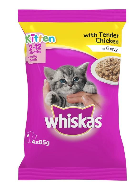 Whiskas Kitten With Tender Chicken In Gravy (85g x 4)