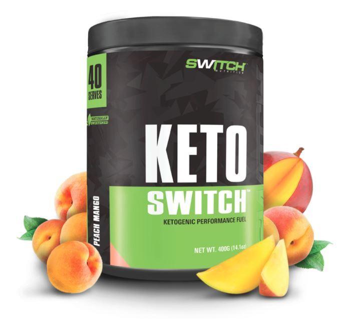 Keto Switch - Ketogenic Performance Fuel - BHB Ketones - Peach Mango (40 Serves) image