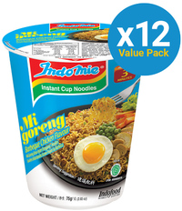 Indomie Cup Noodles - BBQ Chicken 75g (12 Pack) image