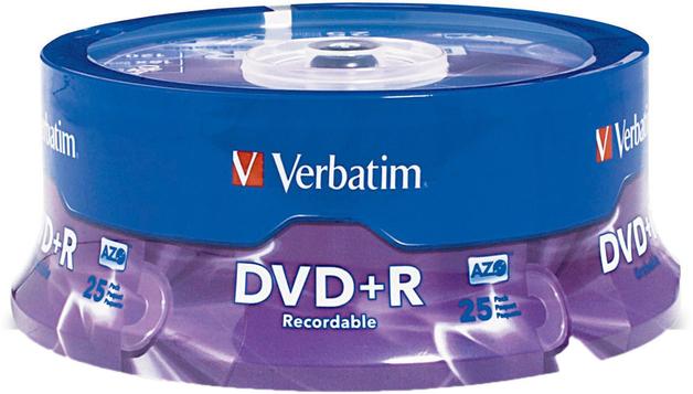 Verbatim DVD+R 4.7GB 16X Spindle 25 Pack