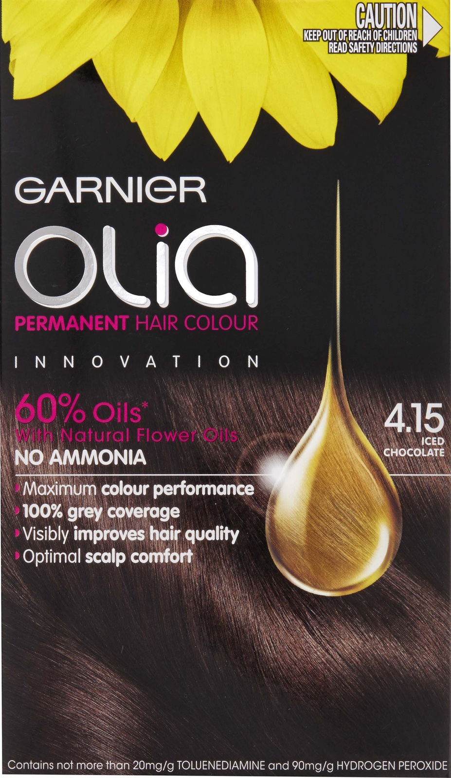 Garnier olia permanent hair colour golden brown 5 3 - Garnier Olia Permanent Hair Colour 4 15 Iced Chocolate Image