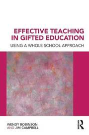 Effective Teaching in Gifted Education by Jim Campbell image
