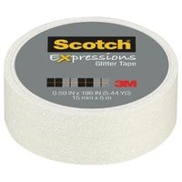 Scotch Expressions Glitter Washi Tape - White (15mm x 5m)