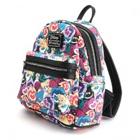 Loungefly Disney Alice In Wonderland Floral Print Mini Backpack