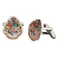 Harry Potter: Silver Plated Hogwarts Crest Cufflinks