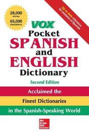 Vox Pocket Spanish and English Dictionary, 2nd Edition by Vox