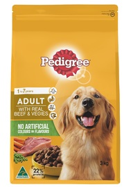 Pedigree Adult With Real Beef & Vegies (3kg)